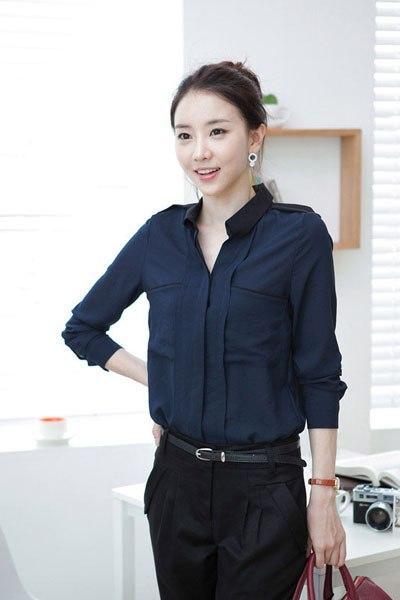 Áo sơ mi nữ Hàn Quốc cho vẻ đẹp trẻ trung, hiện đại.
