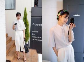 Áo sơ mi nữ trắng đẹp hợp guu thời trang công sởhè