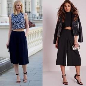 Quần culottes nên mix với kiểu giàynào?