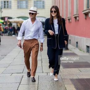 Muôn kiểu thời trang nam trên phố Milan vàParis