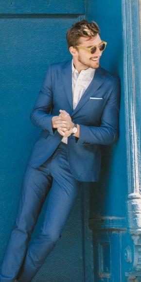 Suit nam màu xanh, mặc và may đo sao chođẹp?