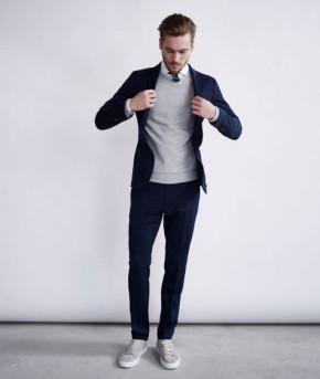 5 cách phối đồ suits may đo đẹp cùng giàytrainers