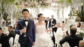 Ngoài váy cưới lộng lẫy, đám cưới của fashion blogger Hong Kong còn xa hoa khôngtưởng
